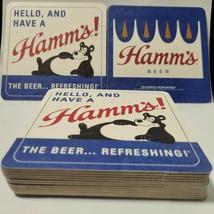 NEW 25 Hamm's Bear Beer Coasters Bar Glass Mat Coaster Unused Loose - $9.99