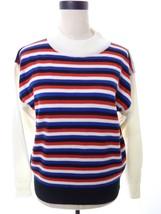 Vintage Retro Hipster Sweater Jason Maxwell Red Black White Stripe Sweat... - $24.00