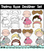 Thelma Rose Designer Set-Paper Dolls - $1.35