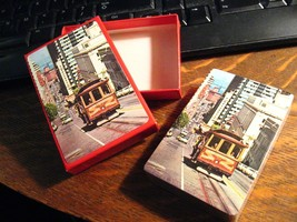 San Francisco Cable Car Vintage Playing Cards - 1970s California Street ... - $19.80