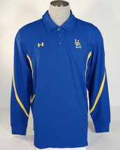 Under Armour Delaware Fightin' Blue Hens Blue Long Sleeve Polo Shirt Men's NWT - $63.74