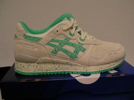 Asics running shoes gel-lyte iii size 10 us men lily white/aqua green new  - $79.15
