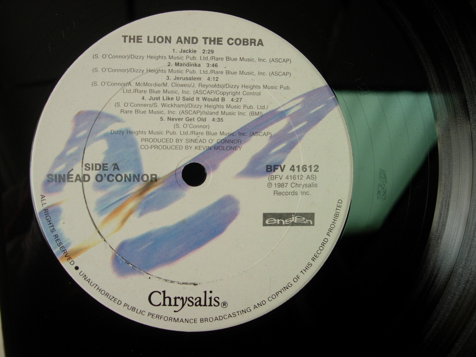Sinead O'Connor - The Lion and The Cobra - Chrysalis BFV 416