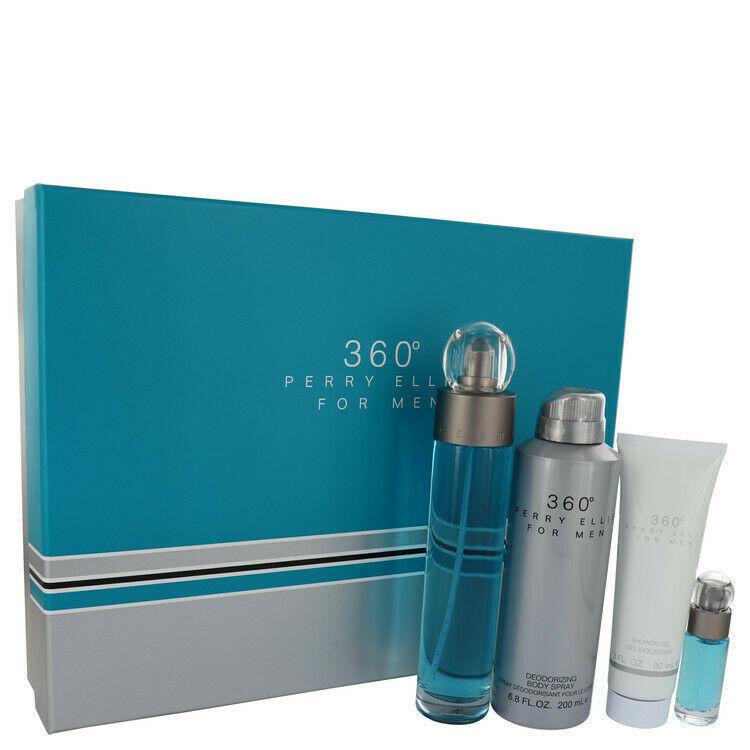 perry ellis 360 by Perry Ellis Gift Set EDT Spray + Body Spray + Shower Gel + Mi - $40.27