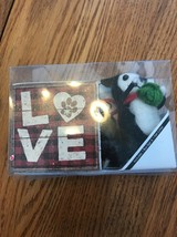 All You Need Is Love And A Cat Box Sign and stuffed critter Ships N 24h - $12.85