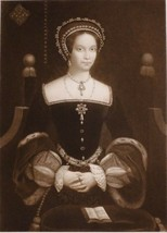 1902 ANTIQUE PRINT (HENRY VIII) PRINCESS MARY c1537 AFTERWARDS QUEEN mar... - $78.21