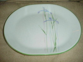 Corelle Shadow Iris 12.25 Inch Oval Serving Platter New With Label Free Ship - $28.04