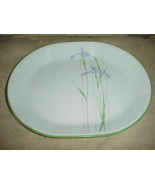 CORELLE SHADOW IRIS 12.25 INCH OVAL SERVING PLATTER NEW WITH LABEL FREE ... - $28.04