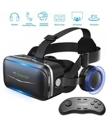 Samsung Galaxy S8 3D Glasses Virtual Reality Headset & Remote Controller... - $76.00