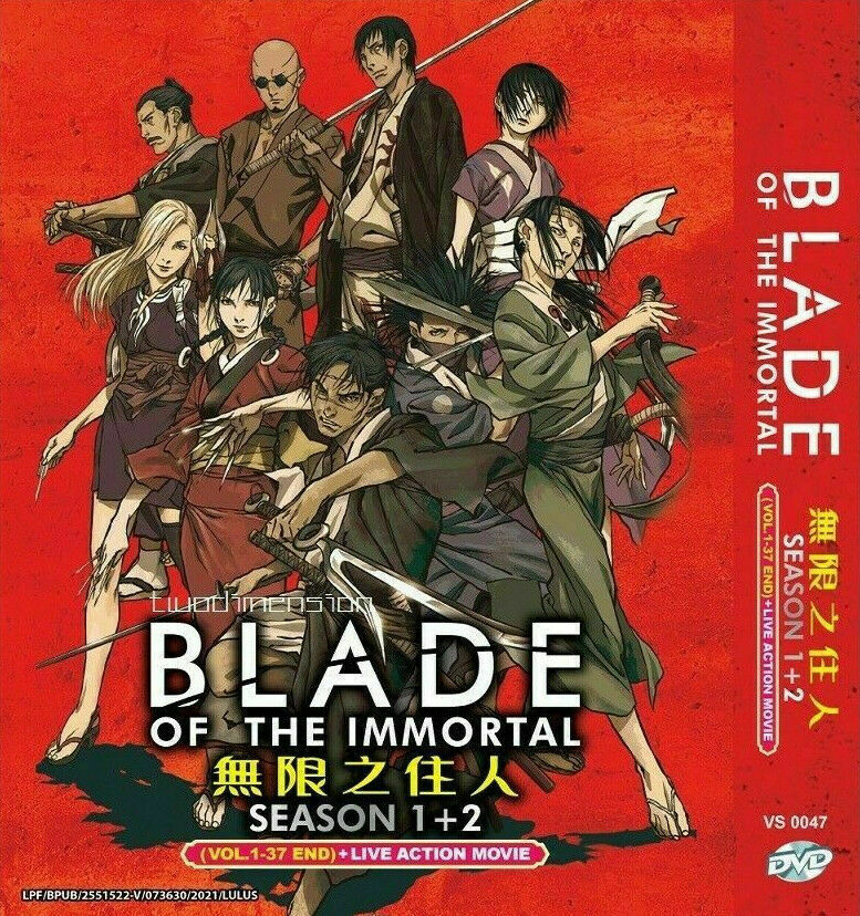 Blade Of The Immortal 1+2 Vol.1-37End+Live Action DVD English Dub Ship From USA