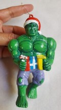 Green Incredible Hulk Christmas Ornament by Kurt S. Adler 2003 Holding P... - $12.19