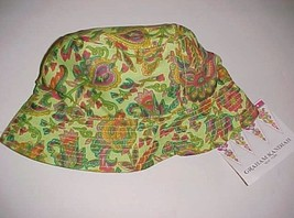Graham Kandiah New York India Adult Unisex Green Lime Marrakesh Hat M Ne... - $59.39
