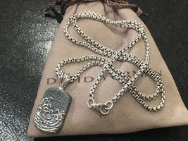 """David Yurman Men's Waves Sterling Silver Dog Tag with 22"""" Chain - $349.99"""