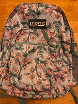"Brand New Trans by JanSport 17"" Supermax Backpack Pink Floral - $23.02"
