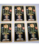 6 Flowers in Vase Playing Cards by Caspari for Crafting, Re-purpose, Up-... - $2.25