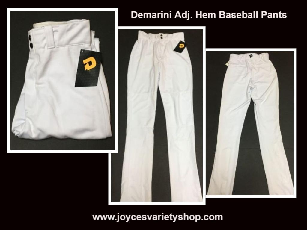 Demarini white baseball pants web collage