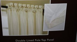 Allen + Roth 84-in L Blackout Solid Ivory Rod Pocket Window Curtain Panel - $29.58