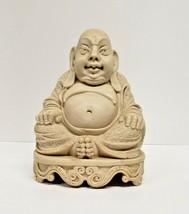 Vintage Detailed Resin Statue of Sitting Buddha 8.5 Inch, Figure, Figurine - $187.00
