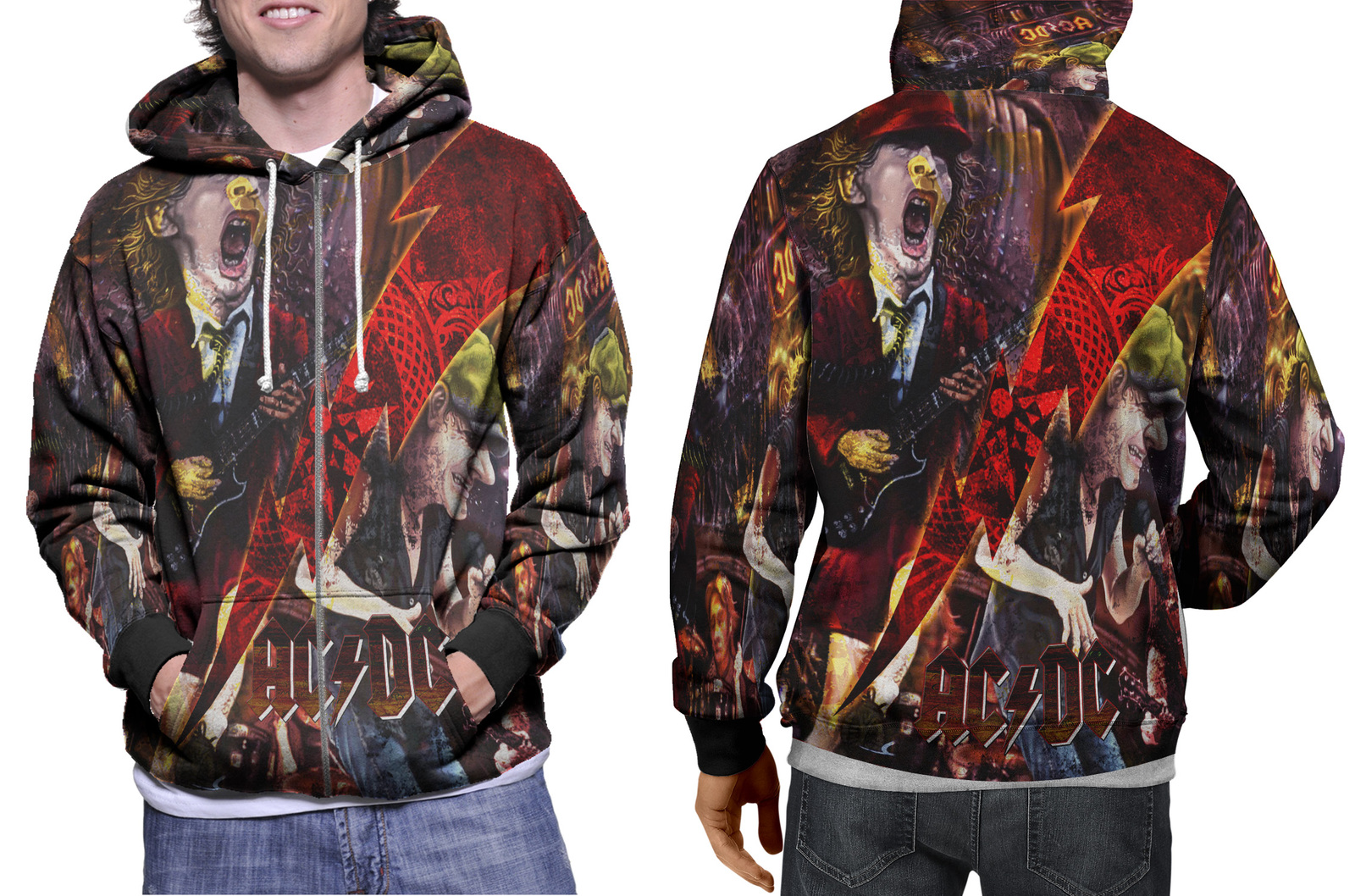 Primary image for ACDC Collection #1 Men's Zipper Hoodie