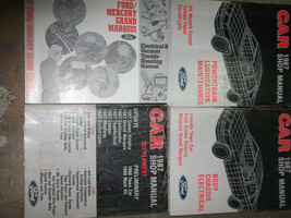1987 Lincoln Town Car Service Shop Repair Manual Set W Powertrain + Supp... - $117.78