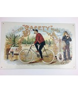 The Gafety Brand Bicycle Cigars Man Cave Metal Sign 16 X 9 3/4 - $22.84