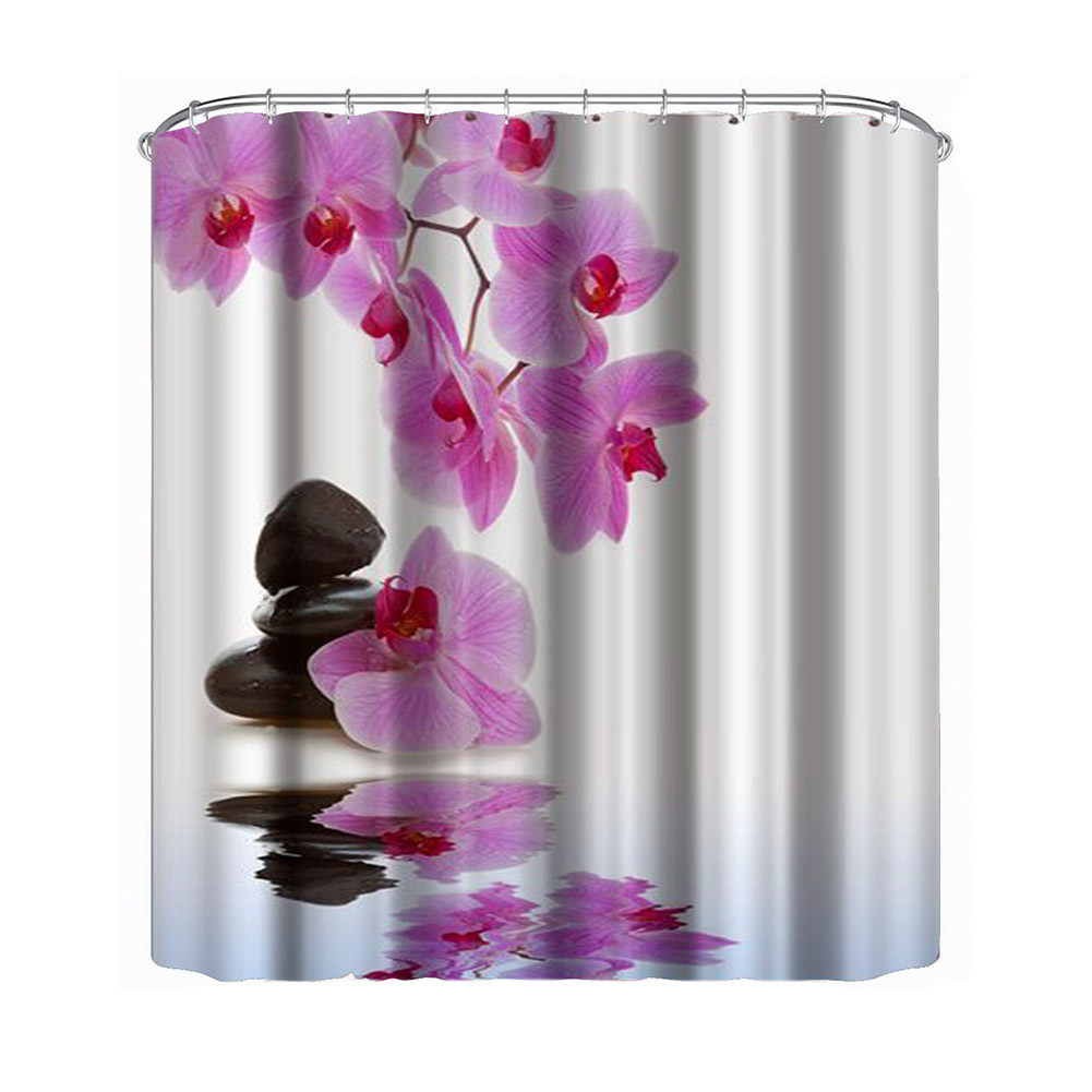 Primary image for  Bathroom Shower Curtain Decoration Waterproof Print Fabric Polyester Multi-Colo