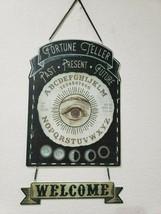 """Halloween Fortune Teller Welcom Metal Wall Sign Door Plaque Decor 20"""" - $27.54"""