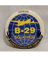 Vintage Pinback Button B-29 Squadron Confederate Air Force Donor - $8.91