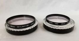 Hoya HMC 55mm & 49mm Skylight 1B Filters Set of 2 Made Japan Bundle - $12.59