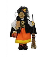 Karen Didion Originals Candy Corn Witch Figurine, 19 Inches - Handmade H... - $78.00