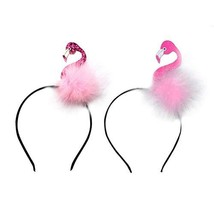Amosfun Flamingo Headband Hawaii Animal Hair Hoop for Children Women Gir... - $9.48
