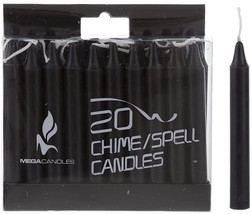 Mega Candles - Mini Ritual Candles - Black (20 Pack) - $10.43
