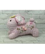 "Hobby Lobby Pink Rabbit Bunny Plush 12"" Stuffed Animal Baby Girl Nursery Decor - $18.46"