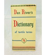 Dan Rivers Pictionary Textile Terms 1948 PB Booklet In Good Shape  - $18.32