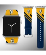 Nashville Predators Apple Watch Band 38 40 42 44 mm Fabric Leather Strap 02 - $29.97