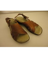 EUC Brown Naturalizer Womens strappy Shoes Sandals Leather upper Sz 8M n... - $39.59