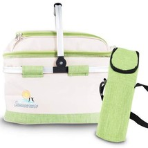 summerease Insulated Collapsible Picnic Basket With Extra Wine Bag By Li... - $696,05 MXN