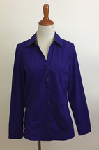 Express Purple Long Sleeve Button Front Shirt sz Medium - $19.79