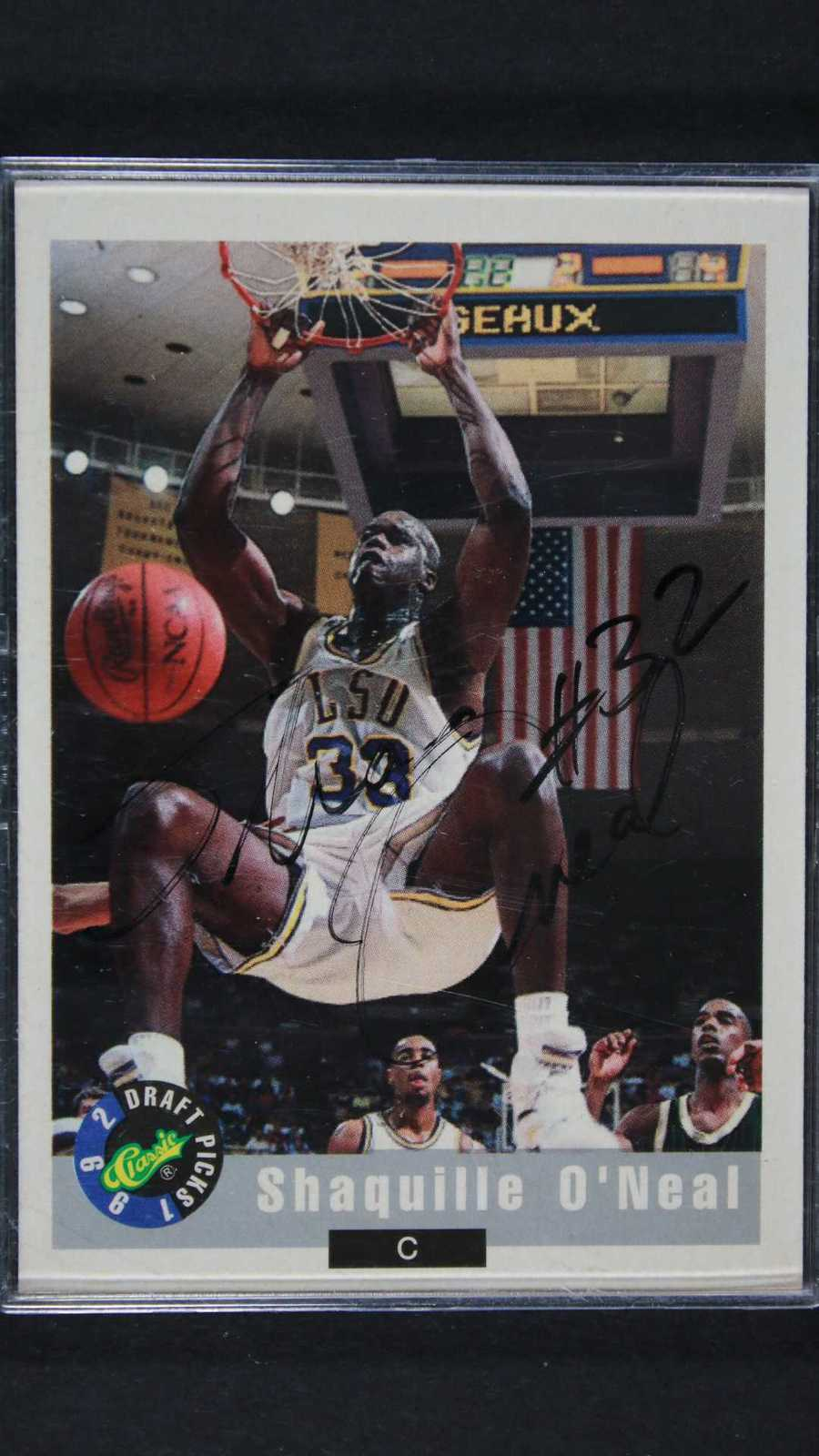 Shaquille O'Neal Signed Autographed 1992 Classic Rookie Basketball Card - LSU Ti