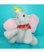 "Disney Dumbo Grey Elephant Stuffed Plush Animal Yellow Hat 16"" Soft Blue... - $19.79"