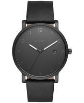 Skagen Hagen Black Leather Strap Watch 40mm SKW6308 - $72.15