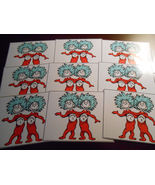 9 Thing 1 and Thing 2 Inspired Stickers, Birthday Party Favors, decals, ... - $8.99