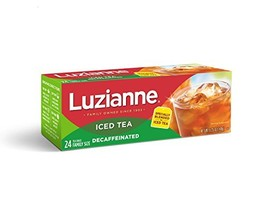 Luzianne Decaffeinated Iced Tea Bags 24 ct. Box Pack of 6 - $29.31