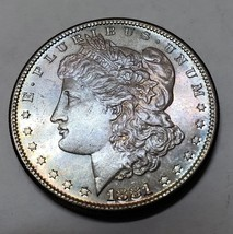 1881S Beautifly Toned MORGAN $1 SILVER ONE DOLLAR Coin Lot# E 93