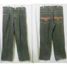 Mens Rock and Republic Red Trimmed Black Jeans Size 36 x 34 - $15.00