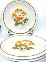 EUC NIKKO Color Stone Wild Flowers Yellow/Orange 10 1/4in Dinner Plate - $23.83