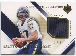 DREW BREES 2003 FLEER HOT PROPERTIES JERSEY/PATCH #128/150--CHARGERS QB image 2