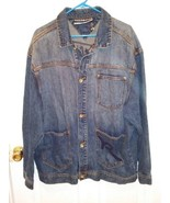 Men's Old School Rocawear medium wash blue jean jacket size XL - $20.56