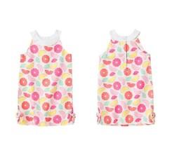 GYMBOREE NWT Fruit Punch Bows Pique Citrus Print Shift White Dress Size ... - $23.74