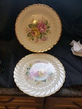 "1930-1940 QUBAN ROYAL  Royal CHINA 22K GOLD FLORAL PATTERN 10"" dinner pl... - $21.77"